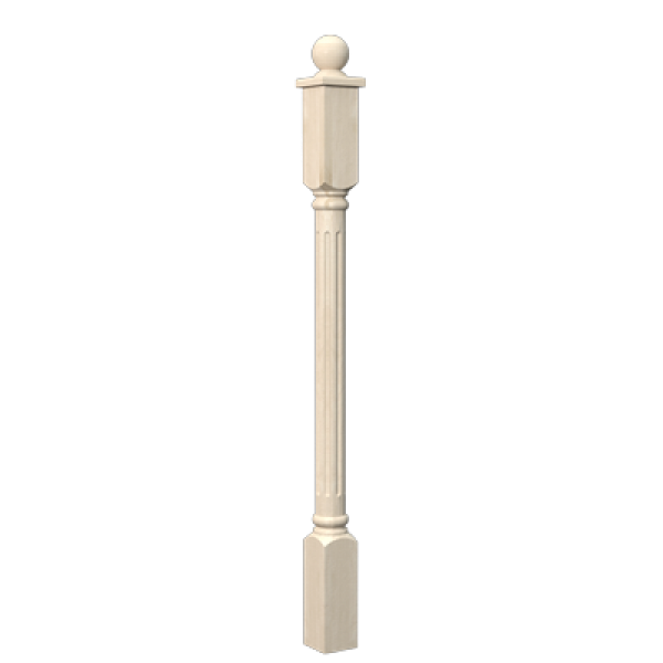 Столб «Рим» 1200 х 110 х 110 мм (сосна) сорт А